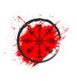 grunge scandinavian viking symbol background vector image vector image