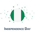 independence day of nigeria patriotic banner vector image vector image