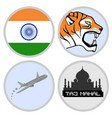 indian tourism agency vector image