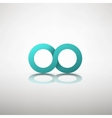 infinity sign vector image