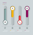 infographic 3d long circle label infograph vector image vector image
