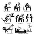 internet business online process stick figure vector image vector image