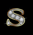 letter s with diamonds