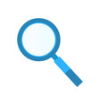 magnifying glass researching flat element vector image vector image