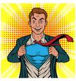 male businessman superhero pop art retro il vector image