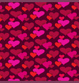 mod overlapping hearts background pattern vector image vector image
