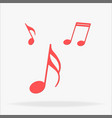 music note icon red music note set web icons vector image