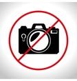 no photo camera prohibited design graphic vector image