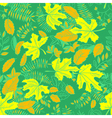 pattern with leaves vector image
