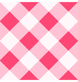 Pink White Diamond Chessboard Background vector image vector image