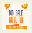 poster for autumn sale discount for 25 and 50 vector image vector image