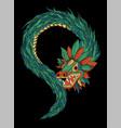quetzalcoatl aztec vector image