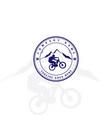 retro vintage bike downhill sport club badge vector image vector image