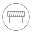 Road barrier line icon vector image