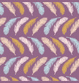 sacred bird feathers stripes hand drawn seamless vector image