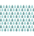 Seamless pattern with ornamental rain drops vector image