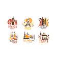 set logos for traveler vector image