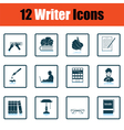 Set of writer icons vector image vector image