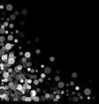 silver glitter confetti on a black background vector image