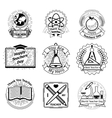 Teachers day emblems set School and education vector image vector image
