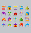 tent patch sticker icons set vector image vector image