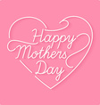 Thank you mom linear a inscription vector image