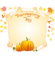 thanksgiving day card vector image vector image