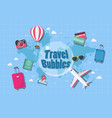 travel bubbles agreement during covid-19 situation vector image vector image