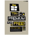 try premium for free vector image vector image