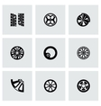Wheel icon set vector image