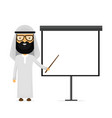 arabian muslim businessman flat vector image
