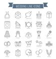 Wedding Line Icons vector image