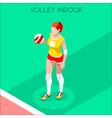 Volleyball 2016 Summer Games 3D Isometric vector image