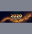2020 happy new year party celebration banner vector image