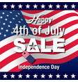 4th of july background vector image vector image