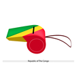 A Whistle of Republic of The Congo vector image vector image