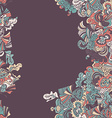 Abstract seamless hand-drawn border vector image vector image