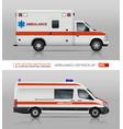 ambulance cars mockup vector image