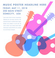 an abstract acoustic guitar design vector image vector image