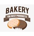 Bakery design over white background vector image