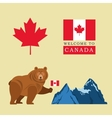 Beer cartoon with Canada Flag Maple leaf icon vector image vector image