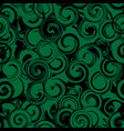 black and green twirl seamless pattern abstract vector image vector image