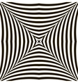 Black and White Geometric Shimmering Optical vector image