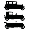 Black vintage cars vector image