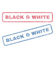 black white textile stamps vector image vector image
