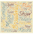 Broadway Set for Record Year in text background vector image vector image
