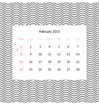 Calendar page for February 2015
