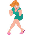 Cartoon woman with blond hair and open mouth vector image vector image