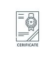 cerificate line icon cerificate outline vector image