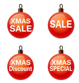 Christmas sale Set of balls Weihnachtskugel vector image vector image